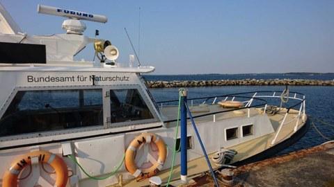 Schiff des Bundesamtes für Naturschutz