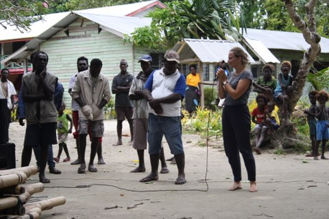 Photo: Susann Adloff in Bougainville, Papua New Guinea.