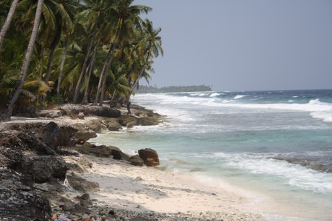 Photo: Beach on Fuvahmulah, Maldives.